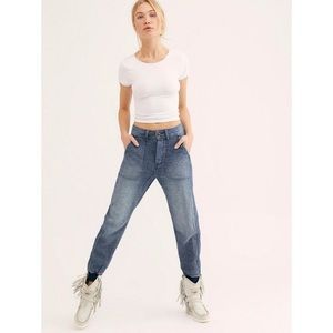 NWT Free People Skye Relaxed Denim Jogger